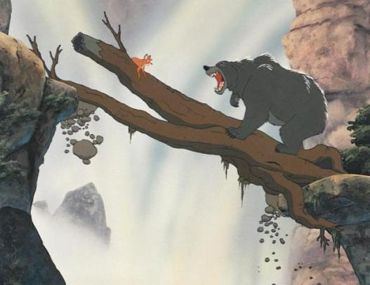 THE FOX AND THE HOUND, Tod, Bear, 1981, ©Walt Disney Pictures